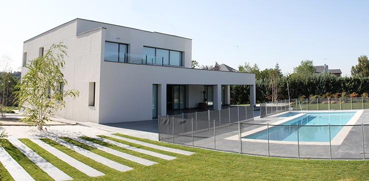 Casa de dise o minimalista en madrid casas modernas for Proyectos casas minimalistas