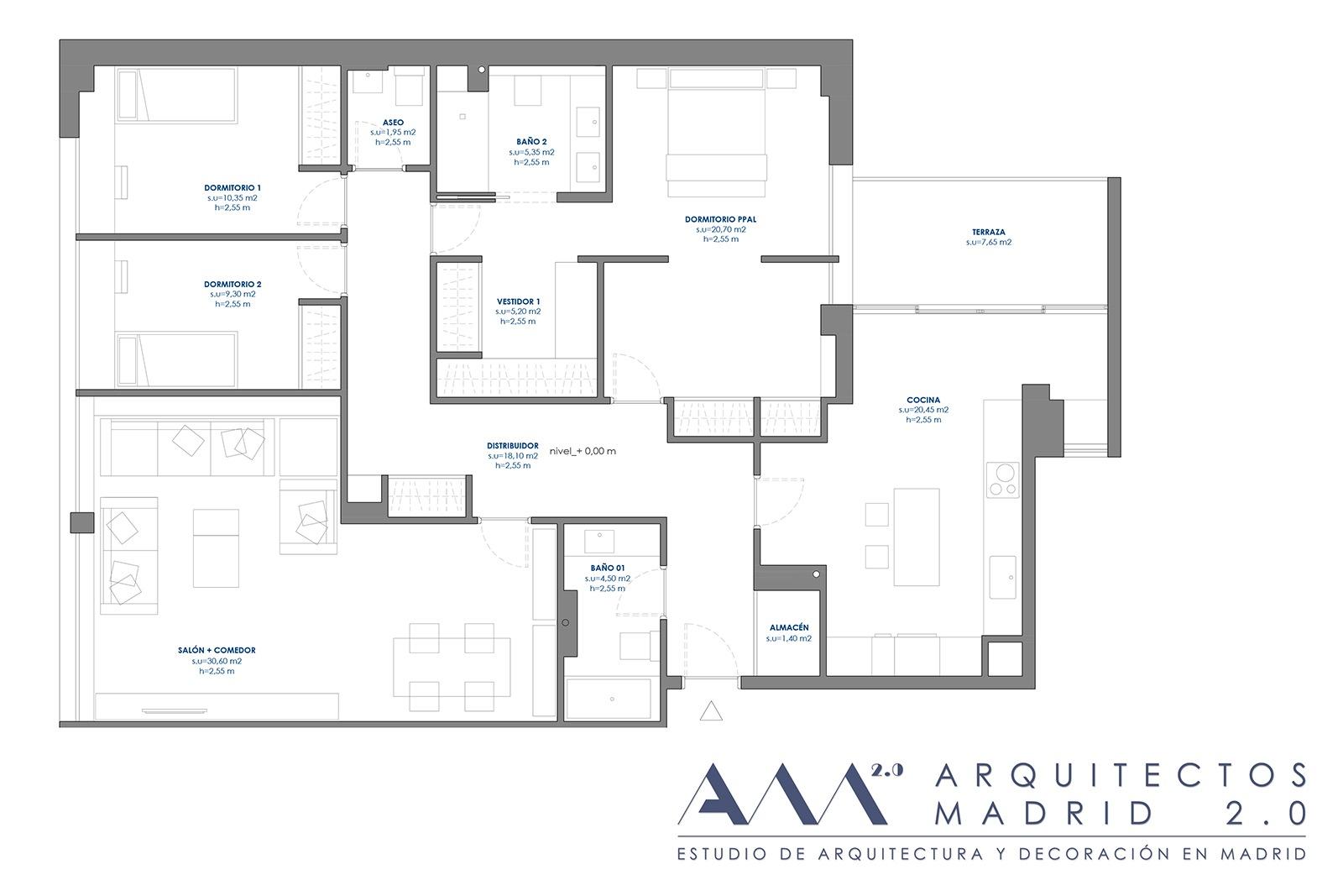 proyecto convertir oficina en vivienda