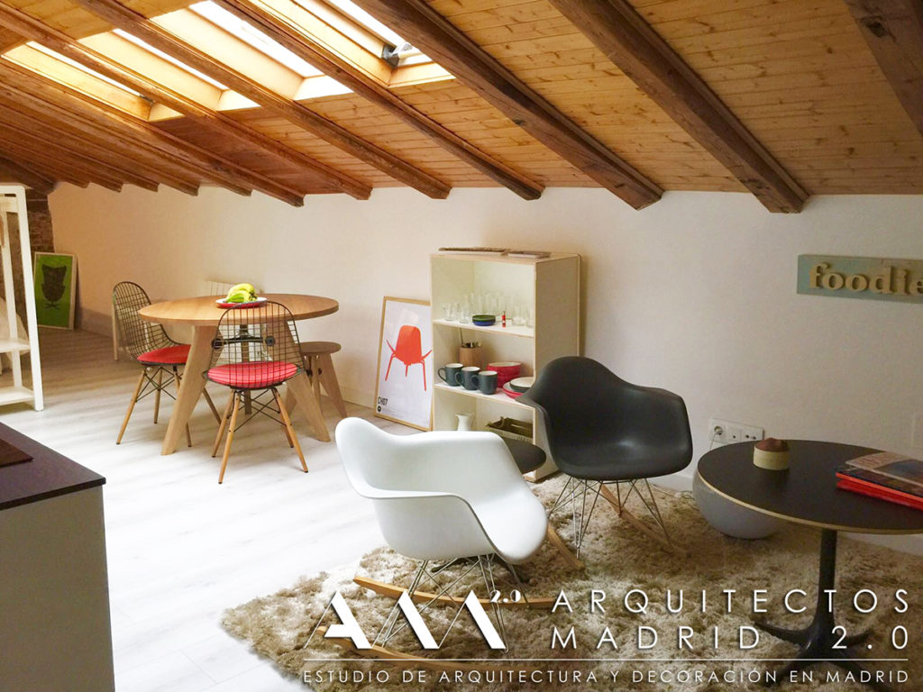 reforma buhardilla madrid alquiler vacacional decoracion hogar mobiliario