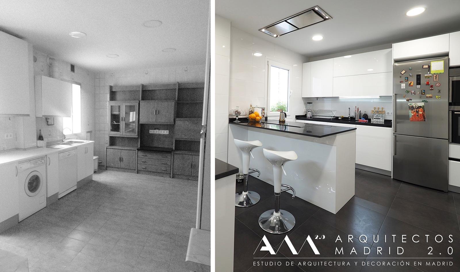 Reforma de piso en madrid de 100 m2 antes y despu s for Reforma piso pequeno antes y despues