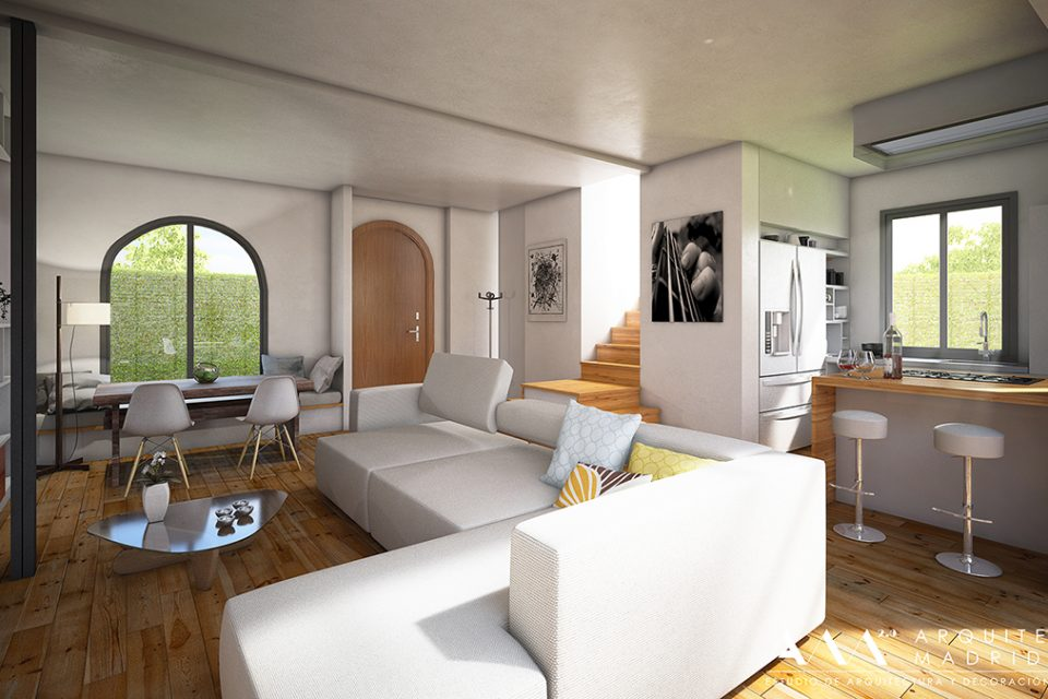 salon-cocina-abierto-decoracion-viviendas-arquitectos-madrid