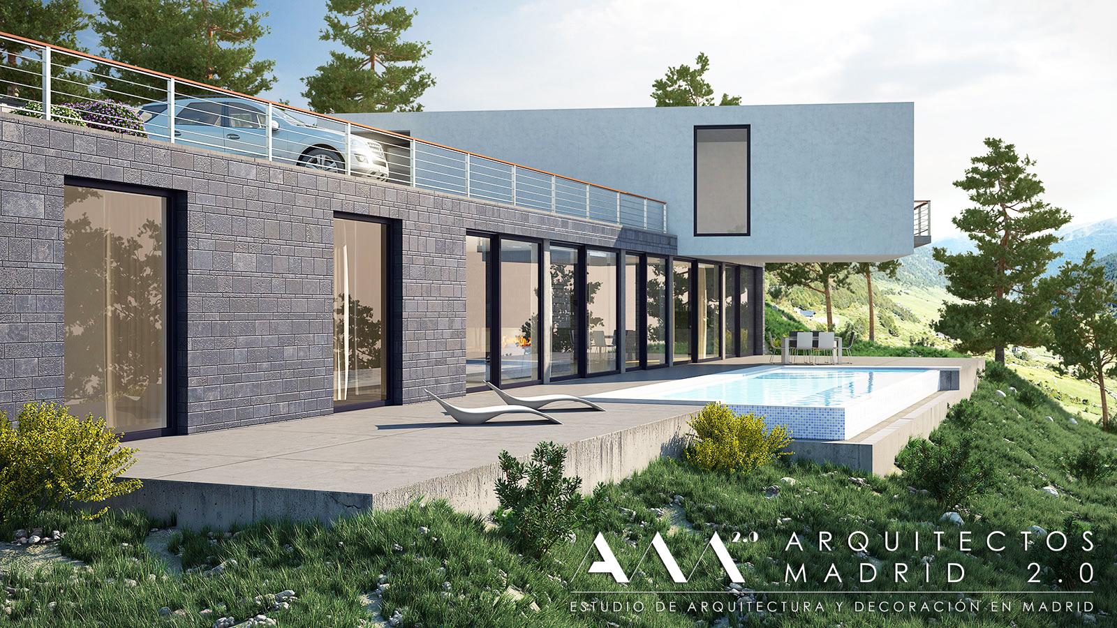 Proyecto y construcci n de casa moderna viviendas de dise o en madrid - Planos de chalets modernos ...