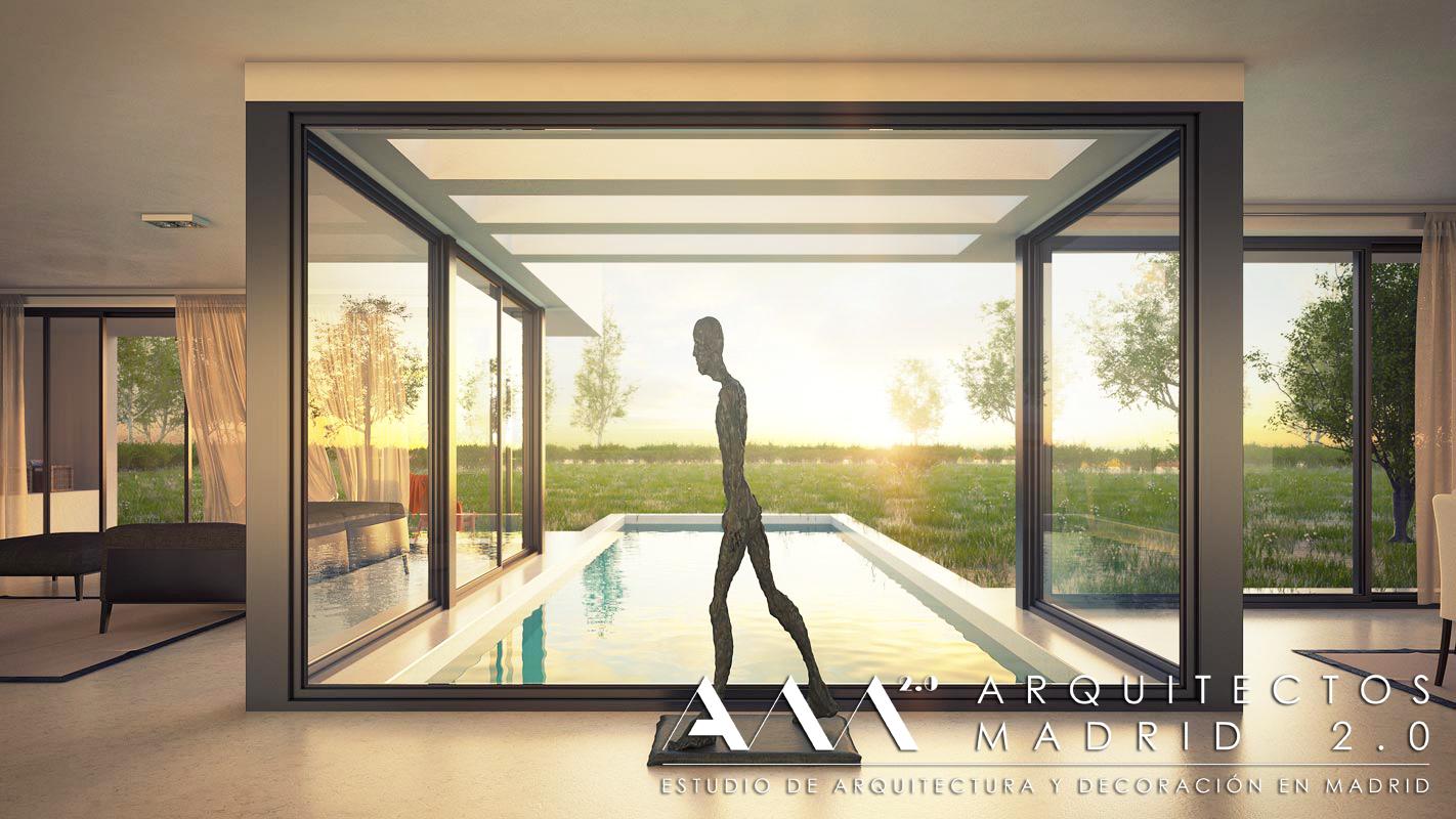 Proyecto y construcci n de casa moderna viviendas de dise o en madrid - Construccion de casas modernas ...