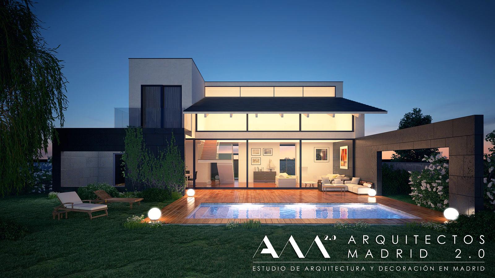 Proyecto y construcci n de casa moderna viviendas de - Fachadas viviendas unifamiliares ...