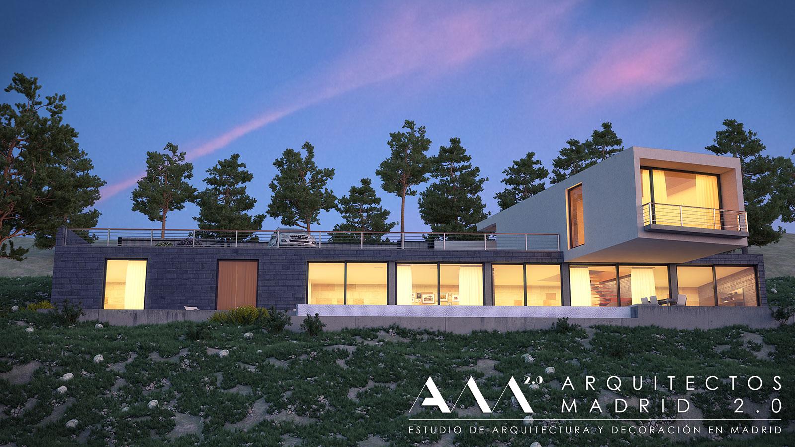 Viviendas unifamiliares proyecto y construcci n de casas - Arquitectos madrid 2 0 ...