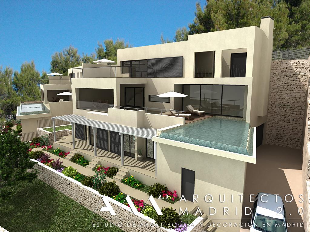 Proyecto y construcci n de casa moderna viviendas de for Proyectos casas modernas
