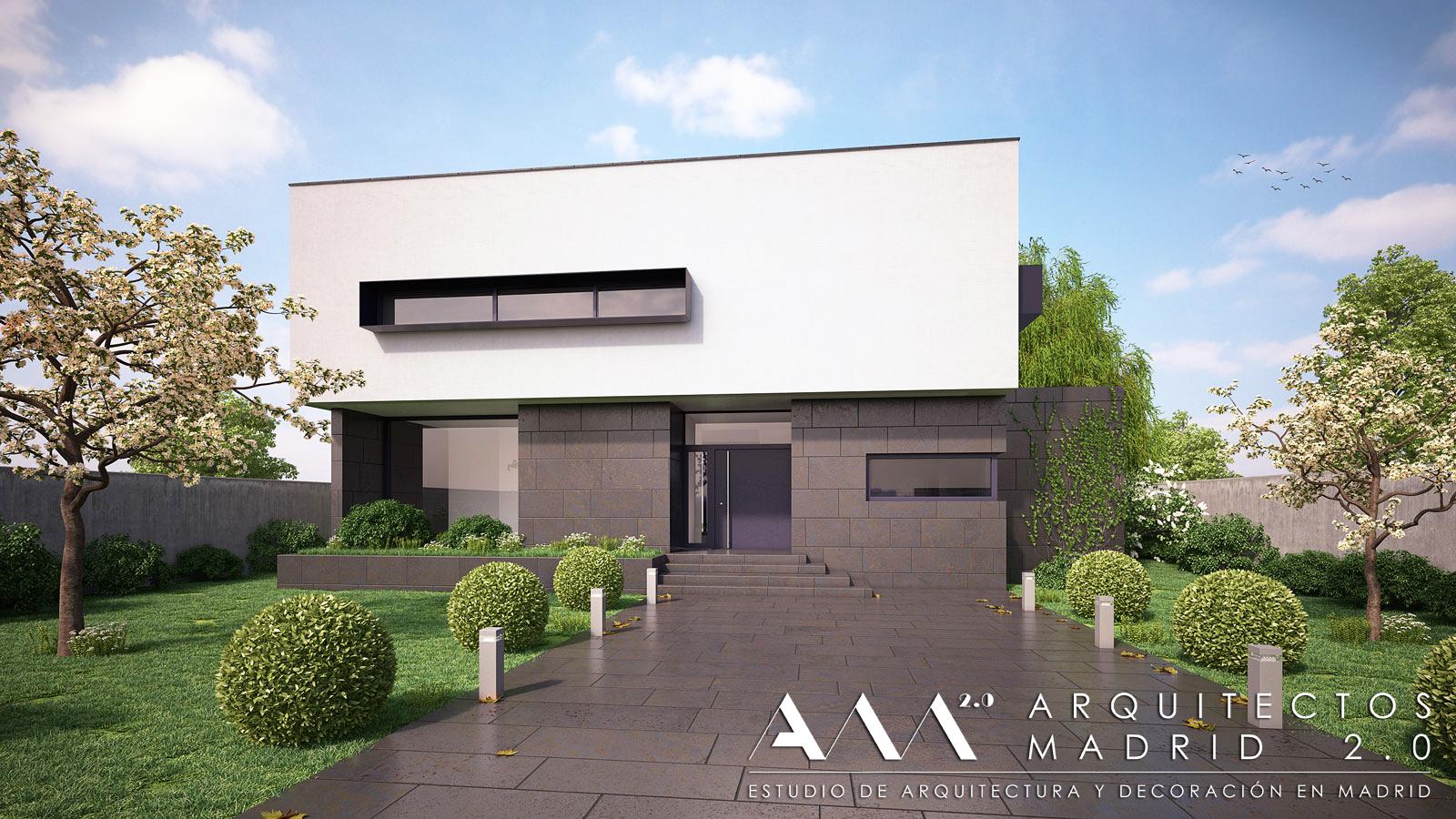 Proyecto y construcci n de casa moderna viviendas de dise o en madrid - Presupuesto vivienda unifamiliar ...